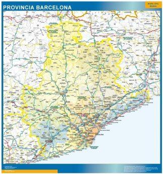 Mapa Barcelona Provincia Comarcas