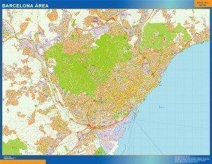 Mapa Barcelona area