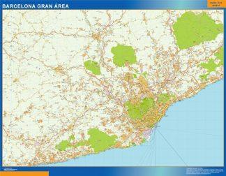Mapa Barcelona gran area