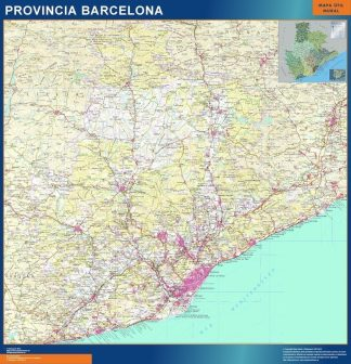 Mapa provincia Barcelona Relieve