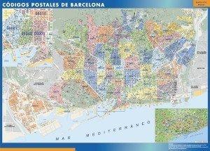 mapa codigos postales barcelona